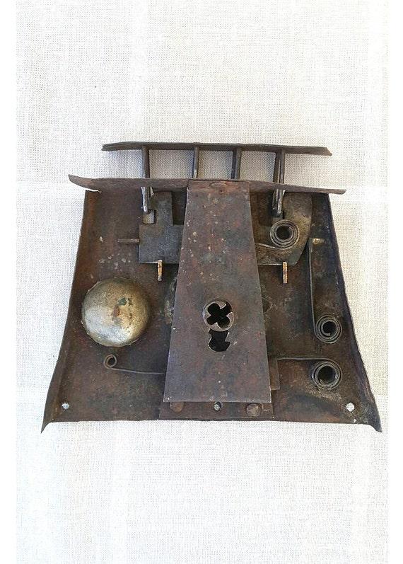 Antike Truhe Geschmiedete Schloss Mechanismus Eisen Schloss Etsy