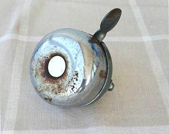 Vintage Bicycle Bell Working bike ring Metal bicycle bell Mounts to handlebar Vintage bell sound BEAR Retro mid century modern