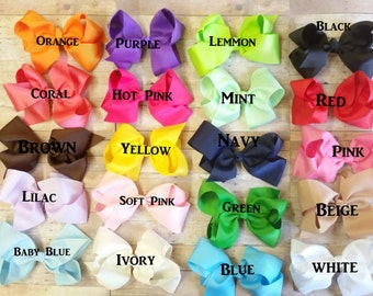 Bows Hair Clips, Girls Hair Clips And Bows, Bow CLips,Large Bows For Babies, Big Bow For Girls, Infant Girl Bows, Hair Bows For Infants, Bow