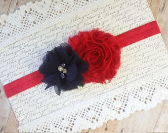 Red Baby Headband, Nautical Headband, Navy Blue Headband, Girls Hair Bands, Infant Headbands, Headbands For Baby, Girl Headband Baby, Bows