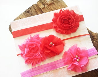 Baby Girl Headbands, Baby Headband, Red Headband, Pink Headband, Hair Bands For Babies, Hair Bows For Girls, Baby Headband Set Teen Headband