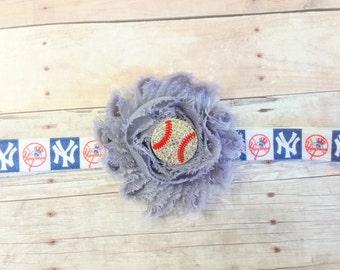 New York Yankees Headband, Sports Headband, MLB Headband,  Baseball Headband, Girl Headband baby,