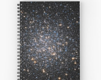Glittery Starburst Spiral Notebook, You Choose Paper Style!