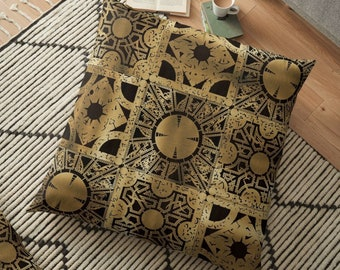 Hellraiser Throw Pillow, Floor Pillow, Pillow Case and Insert - 6 Sizes Available! - Lament Configuration Spread