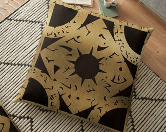 Hellraiser Throw Pillow, Floor Pillow, Pillow Case and Insert - 6 Sizes Available! - Lament Configuration Side F