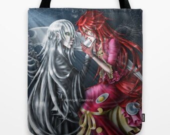 Black Butler Grell Sutcliff Undertaker Tote Bag 3 Sizes Available Tea And Crumpets