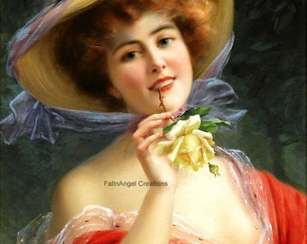 "Victorian Art Print ""Lady in Red"""