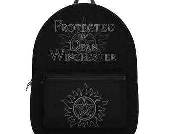Supernatural Protected by Dean Winchester Backpack