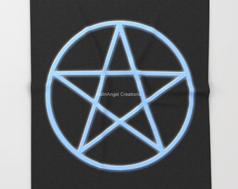 Super Soft Throw Blanket, Pentacle Symbol, 3 Sizes Available!