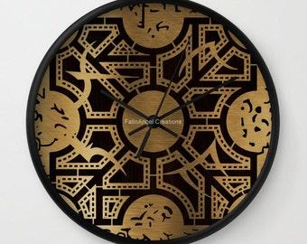 Hellraiser Wall Clock, Lament Configuration Side D, You Choose Frame & Hand Colors!
