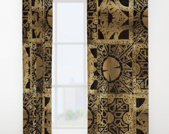 Hellraiser Curtains - Single and Double Panels Available - Lament Configuration Spread