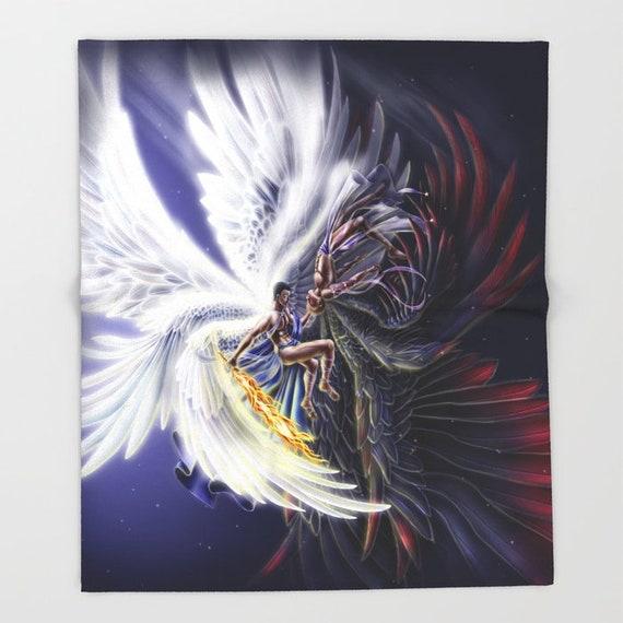 Supernatural Michael & Lucifer Throw Blanket 3 Sizes