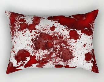 Blood Stained Rectangular Pillow, 3 Sizes Available!