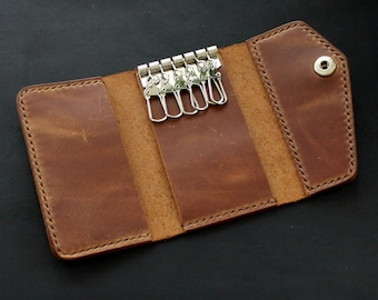 Real Leather key case leather key holder leather key wallet for 6 keys  leather key chain Convenient key holder Leather Personalized accb0943a
