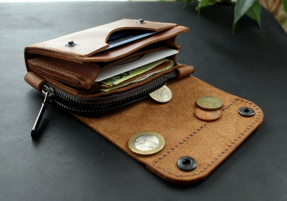 c24137145234 Real Leather wallet Small wallet Personalized wallet Front