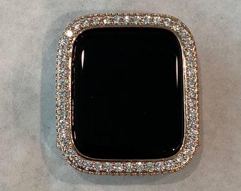 Rose Gold Apple Watch Bezel 2.5mm Lab Diamond Iwatch Case Cover Iwatch bling series 6 SE bzl