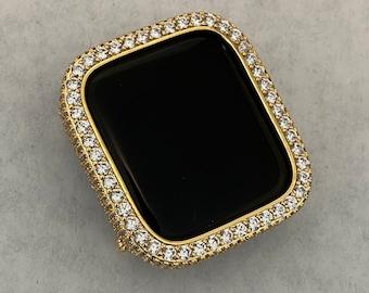 Apple Watch Bezel Cover 38 40 42 44mm Womens Mens Lab Diamonds Crystal Iwatch Iphone Ipad Case bzl
