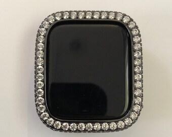 Apple Watch Bezel Cover Lab Diamond Bumper Black Metal 38mm 40mm 42mm 44mm series 6 SE bzl