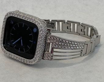 Series 6 Apple Watch Band Bracelet & or Lab Diamond Bezel Bumper sb1