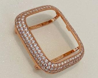 Apple Watch Bezel Cover Lab Diamonds Rose Gold 38mm 40mm 42mm 44mm Iwatch Series 6 Bling bzl