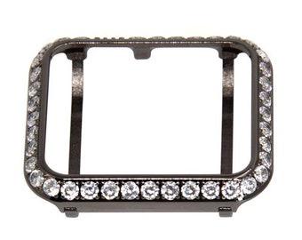 Apple Watch Band Black Bezel Crystal Iwatch Bling 38mm 40mm 42mm 44mm Sale