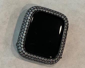 Apple Watch Cover Lab Diamond Bezel Bumper Black Metal Iwatch Bling Series 6 SE bzl