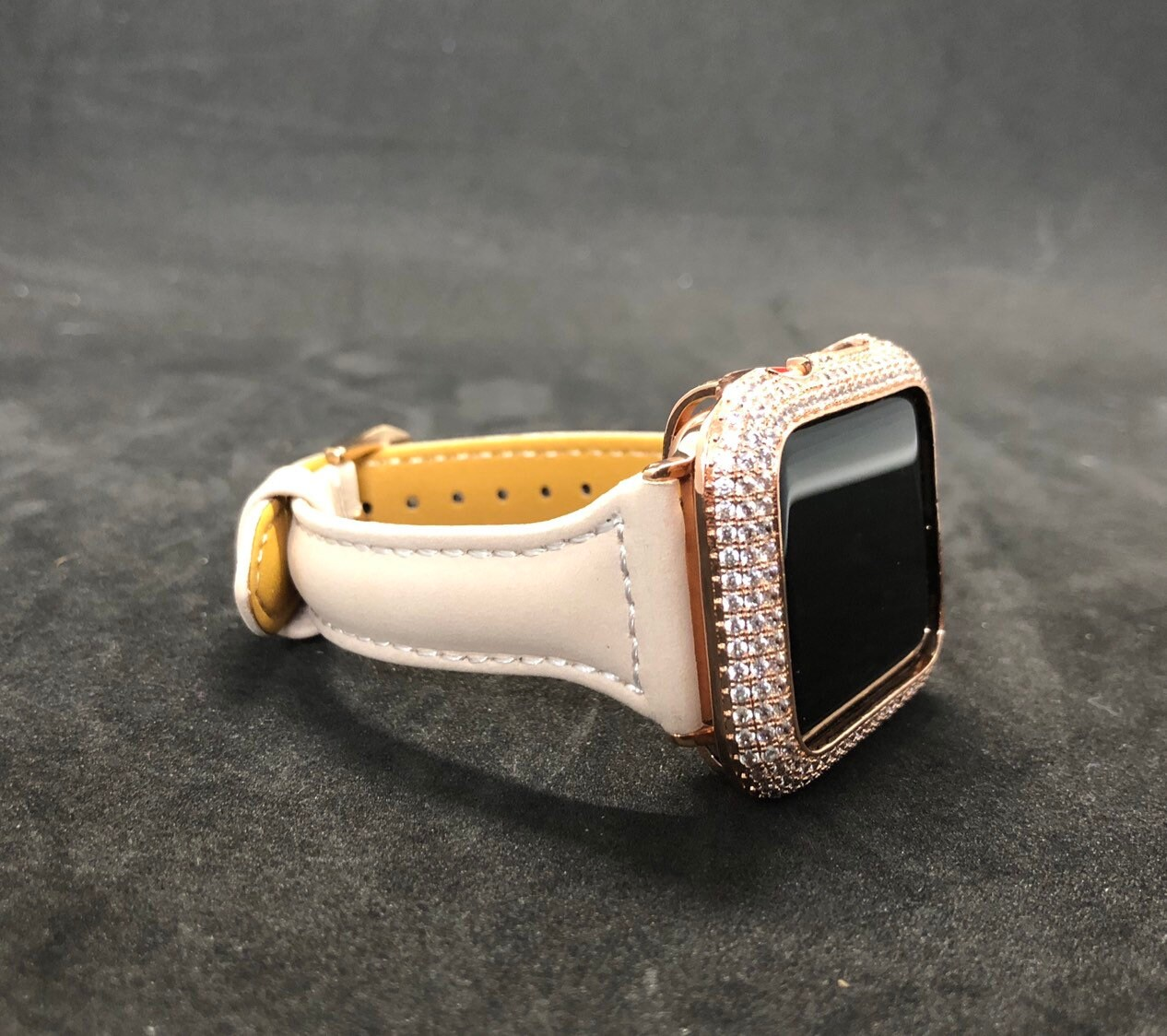 38mm 40mm 42mm 44mm apple watch rose gold leather band