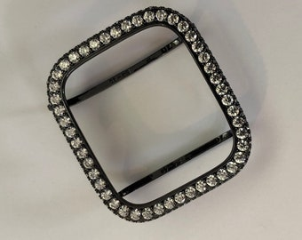 Black Apple Watch Bezel Case Cover Lab Diamond Iwatch Bling 2.5 bzl