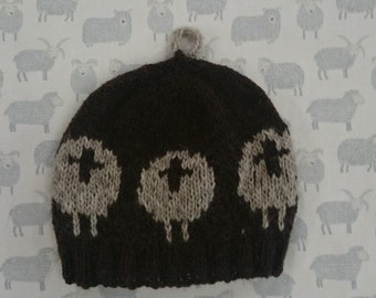 4ply Knitted Sheep Beanie Pattern