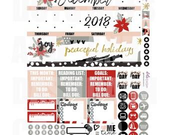 Dezember abstrakte monatliche Kalender-Kit