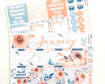 January Tranquil Monthly Calendar Kit - EC or HP