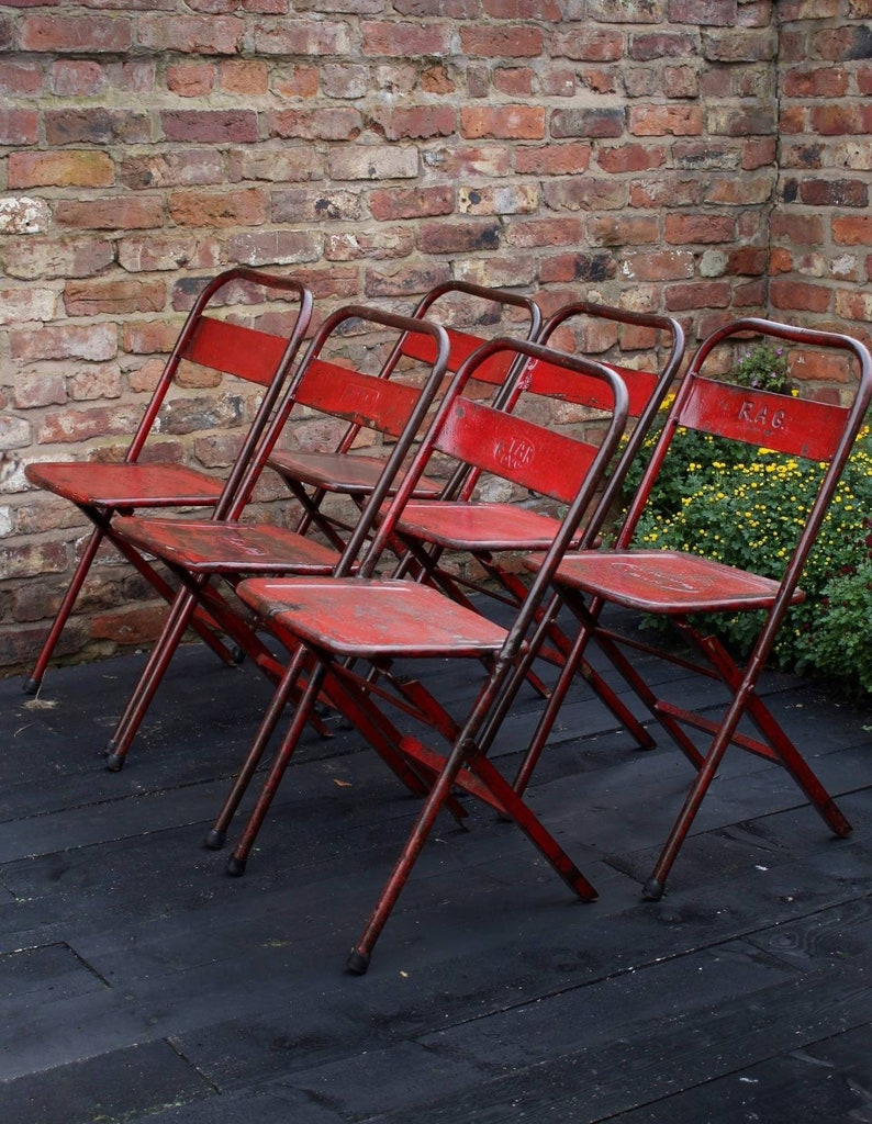 RECLAIMED METAL CHAIRS : industrial style vintage metal chairs image 0