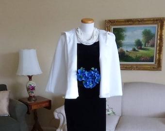 Short Hooded Bridal Cape Wedding Cloak