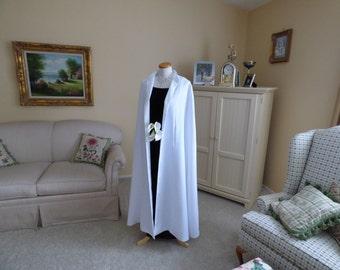 White Crepe Bridal Cape Spring/Summer Wedding Cloak