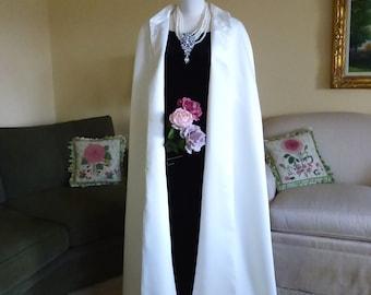 Satin Bridal Cape, Lightweight Wedding Cloak