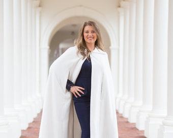 Bridal Cape Hooded, Warm Wedding Cloak