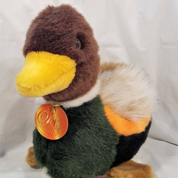 Vintage Plush Mallard Duck Stuffed Animal Soft Classics Toys Etsy
