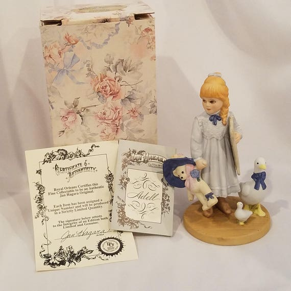 Jan Hagara Figurines: Adell Porcelain Figurine Jan Hagara Collectible Blonde