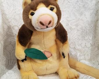 Vintage Plush Tree Kangaroo, Stuffed Animal, Plushie, American Zoo Aquarium Association Exclusive, 12 Inches Tall, K & M International