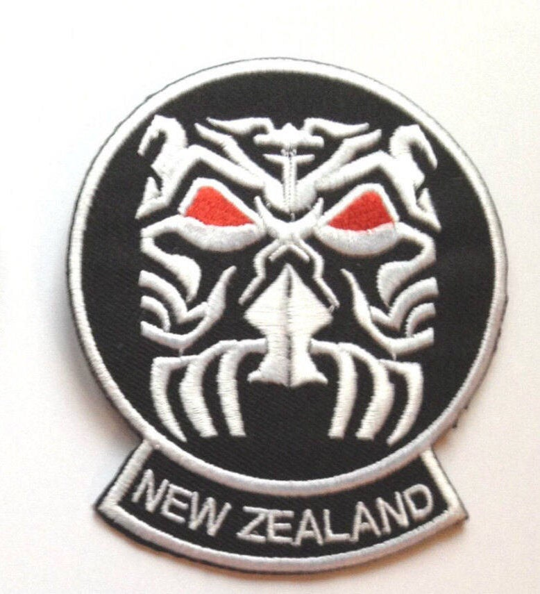 Maori Warrior Mask Tattoo New Zealand Embroidered Iron-on