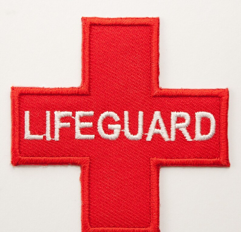 2b954ec37e18 Lifeguard Patch 3 Embroidered Iron on Badge Red Cross