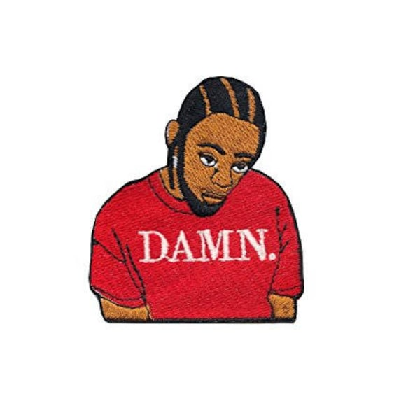 Kendrick Damn Patch (2.5 Inch) Embroidered Iron / Sew On Badge Costume Diy Applique Souvenir by Etsy
