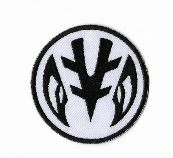 White Power Rangers Logo Patch Embroidered Iron On Badge Etsy