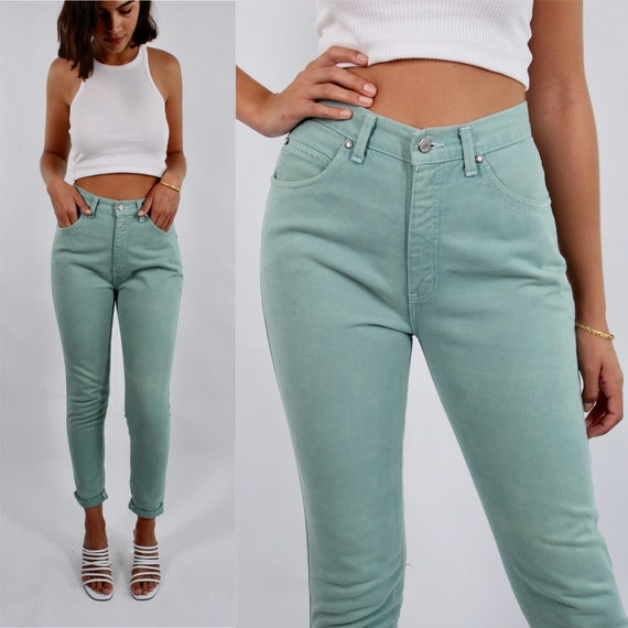 Vintage 80s 90s Mint Green Levis High Waist Cotton