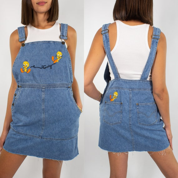Vintage Tweety Overalls Dress | Official Looney Tu
