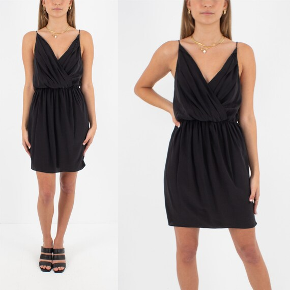 Black Silk Zimmerman Mini Dress   Pure Silk Dress