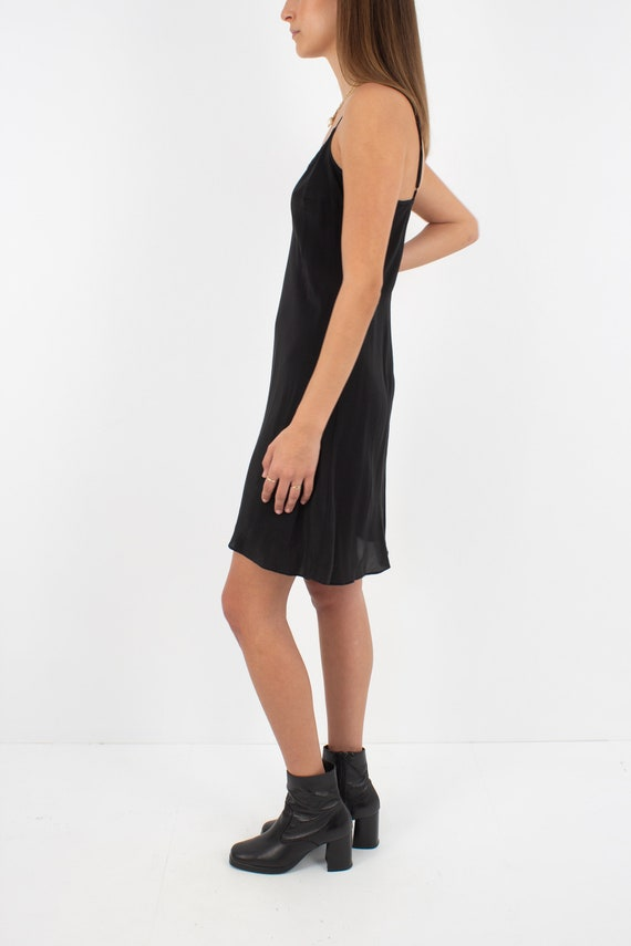 Black Silk Slip Mini Dress - Size XXS/XS/S - image 3