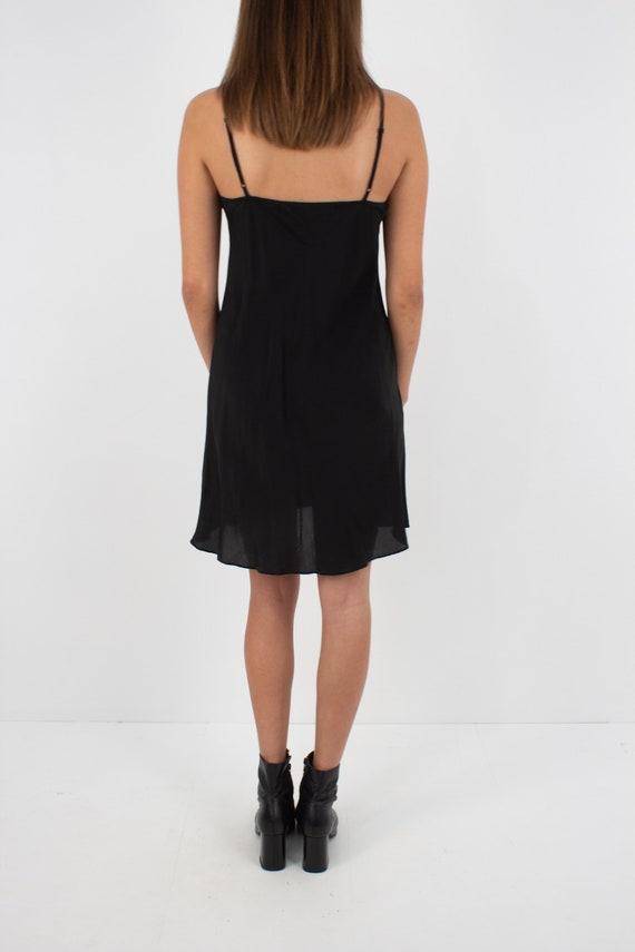 Black Silk Slip Mini Dress - Size XXS/XS/S - image 5