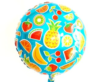 Tutti fruiti balloons. Fruit balloons. Twoti fruiti. twoty fruity. strawberry balloon. orange balloon. grape balloon. lemon balloon. banana