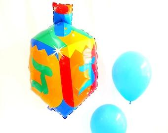 """27"""" HANUKKAH Dreidel balloon. Jumbo dreidel balloon. Holiday balloons. hanukkah balloons. hanukkah decor. hanukkah party."""